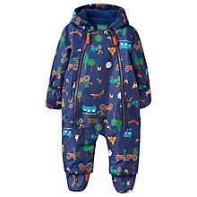Buy Baby Joule Baby Charlie Farm Print Snowsuit, Blue Online at johnlewis.com