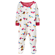 Buy Baby Joule Razamataz Bird Sleepsuit, White Online at johnlewis.com