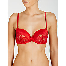 Buy COLLECTION by John Lewis Roselin Underwired Balcony Bra, Bright Crimson Online at johnlewis.com