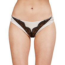 Buy Somerset by Alice Temperley Mia Bikini Briefs, Blush/Black Online at johnlewis.com