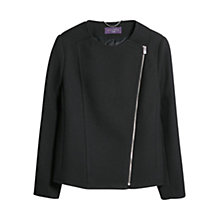 Buy Violeta by Mango Square Textured Jacket, Black Online at johnlewis.com