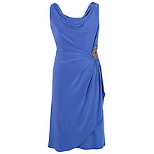 Buy Chesca Cowl Neck Side Bead Dress, Lupine Online at johnlewis.com