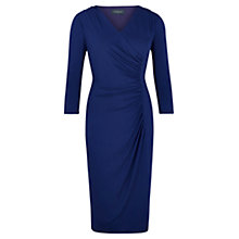 Buy Viyella Gathered Wrap Dress, Cobalt Online at johnlewis.com