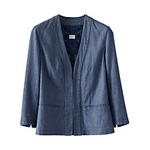Buy Poetry Cotton Jacquard Jacket, Denim Online at johnlewis.com