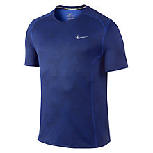 Buy Nike Dri-FIT Miler Optical Short-Sleeve Running Shirt, Game Royal Blue Online at johnlewis.com