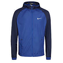 Buy Nike Racer Full Zip Running Jacket, Blue/Black Online at johnlewis.com