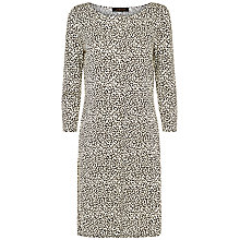 Buy Jaeger Little Leopard Dress, Camel/Black Online at johnlewis.com