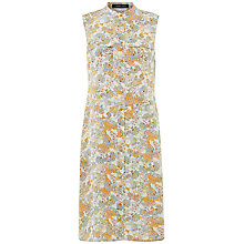 Buy Jaeger Paisley Sleeveless Silk Dress, Multi Online at johnlewis.com