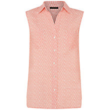 Buy Jaeger Ditsy Shirt, Coral Pink Online at johnlewis.com