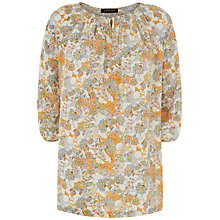 Buy Jaeger Floral Animal Print Tunic Top, Orange Online at johnlewis.com