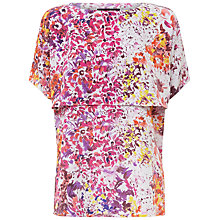 Buy Jaegar Silk Watercolour Floral Top, Coral Pink Online at johnlewis.com