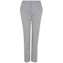 Buy Jaeger Ditsy Print Trousers, Navy Online at johnlewis.com