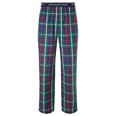 Polo Ralph Lauren Woven Cotton Check Lounge Pants, Blue