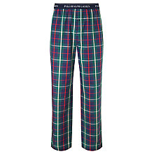 Buy Polo Ralph Lauren Woven Cotton Check Lounge Pants, Blue Online at johnlewis.com