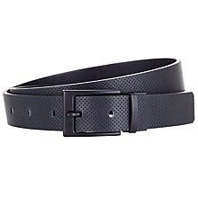 Buy Kin by John Lewis Reversible Perforated Belt, Black Online at johnlewis.com