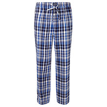 Buy Polo Ralph Lauren James Plaid Woven Cotton Lounge Pants, Blue Online at johnlewis.com