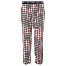 Buy Polo Ralph Lauren Check Woven Cotton Lounge Pants, Multi-coloured Online at johnlewis.com