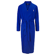 Buy Polo Ralph Lauren Cotton Kimono Robe, Blue Online at johnlewis.com
