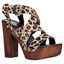 Buy Carvela Kookie Pony Block Heel Sandals, Multi Online at johnlewis.com