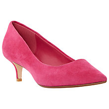 Buy Dune Annielou Suede Pointed Court Shoes, Pink Online at johnlewis.com