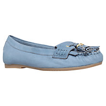 Buy Carvela Leah Leather Tassel Loafers, Blue Online at johnlewis.com