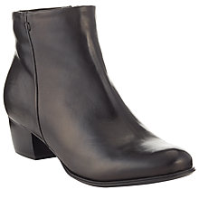 Buy John Lewis Albany Leather Ankle Boots, Black Online at johnlewis.com