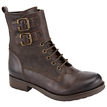 Buy Collection WEEKEND by John Lewis Pantin Lace Up Ankle Boots, Grey Leather Online at johnlewis.com