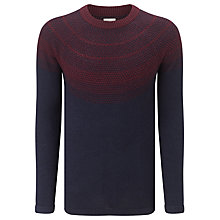 Buy Selected Homme Berton Crewneck Jumper, Navy Blazer/Winetasting Red Online at johnlewis.com
