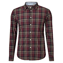 Buy Dockers Laundered Poplin Check Shirt, Herbert Merlot Online at johnlewis.com