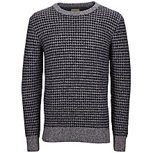 Buy Selected Homme Bucket Crew Cotton Jumper, Navy Online at johnlewis.com
