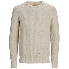 Buy Selected Homme Neps Mottled Jumper, Moonbeam Online at johnlewis.com
