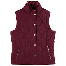 Buy Barbour Girls' Quilt Gilet, Burgundy Online at johnlewis.com