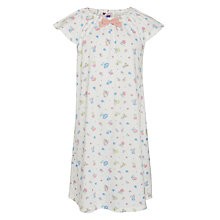 Buy John Lewis Girls' Vintage Rose Print Nightdress, Cream Online at johnlewis.com
