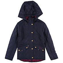 Buy Barbour Girls' Cavalry Polarquilt Jacket, Navy Online at johnlewis.com