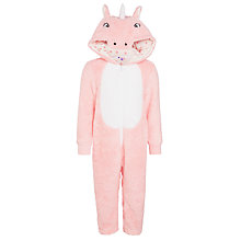 Buy John Lewis Girls' Novelty Unicorn Onesie, Pink Online at johnlewis.com