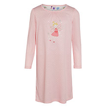Buy John Lewis Girls' Long Sleeve Fairy Nightdress, Pink Online at johnlewis.com
