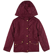 Buy Barbour Girls' Cavalry Polarquilt Jacket, Red Online at johnlewis.com