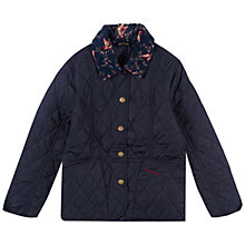 Buy Barbour Girls' Liddesdale Quilt Coat, Navy Online at johnlewis.com