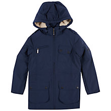 Buy Barbour International Girls' Parka Coat, Navy Online at johnlewis.com