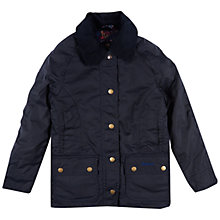 Buy Barbour Girls' Wax Jacket, Navy Online at johnlewis.com
