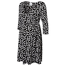 Buy Mamalicious Katie Dot Skater Maternity Dress, Black/White Online at johnlewis.com