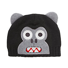 Buy John Lewis Boy Gorilla Beanie, Black Online at johnlewis.com