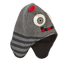 Buy John Lewis Robot Trapper Hat, Grey Online at johnlewis.com