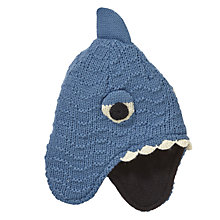 Buy John Lewis Shark Trapper Hat, Blue Online at johnlewis.com