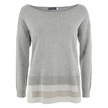Buy Mint Velvet Layer Hem Jumper, Grey Online at johnlewis.com