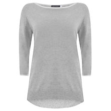 Buy Mint Velvet Zip Back Jumper, Silver Online at johnlewis.com