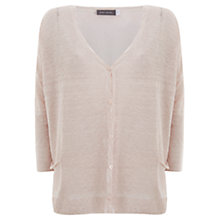Buy Mint Velvet Overdyed Cardigan, Pale Pink Online at johnlewis.com