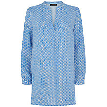 Buy Jaeger Ditsy Print Linen Tunic Top, Regatta Online at johnlewis.com