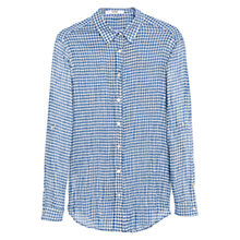 Buy Mango Cotton Chest Pocket Shirt, Medium Blue Online at johnlewis.com