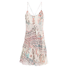 Buy Mango Spaghetti Strap Printed Ruffle Dress, Multi Online at johnlewis.com